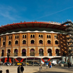 Las Arenas de Barcelona, desde el parque Joan Miró